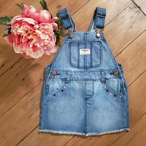 2/$10 OshKosh Embroidered Denim Jumper Dress | 18M